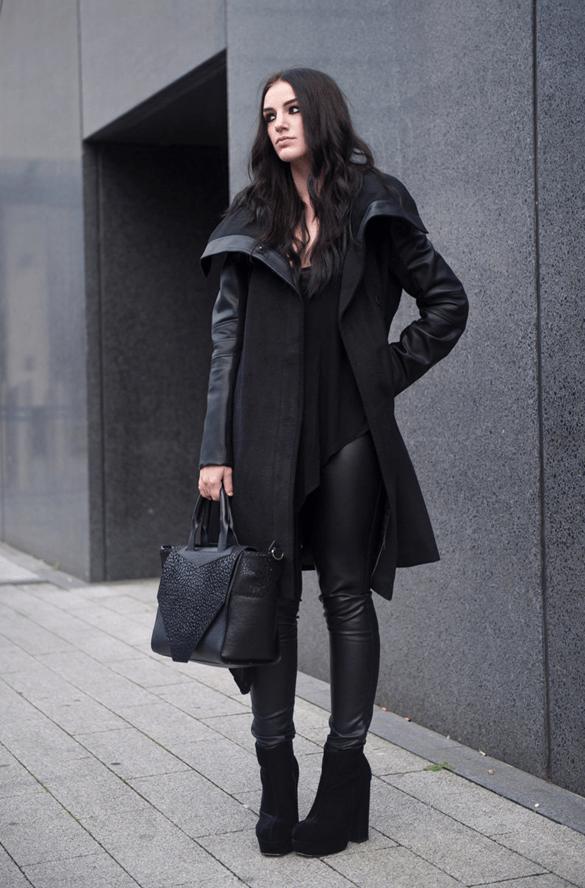 Аксессуары к классическому черному пальто7