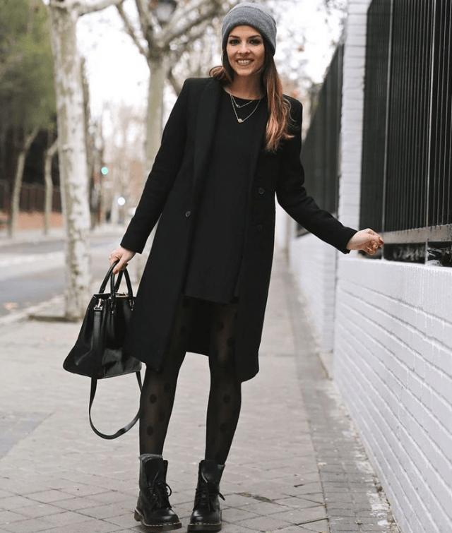 Аксессуары к классическому черному пальто8