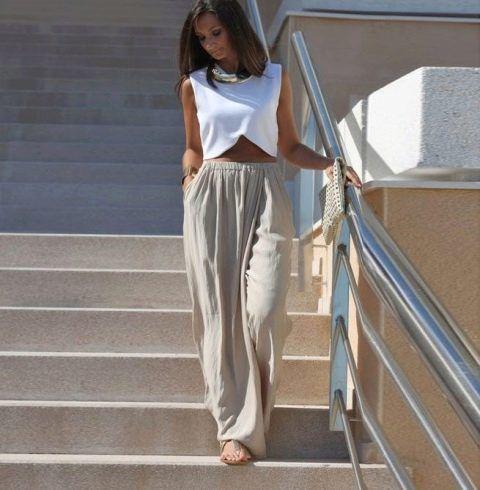 брюки в стиле бахо