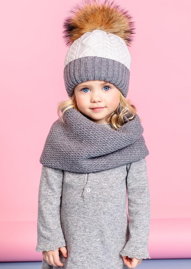 Детская зимняя шапка с отворотом