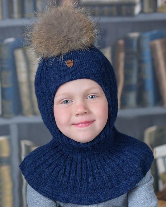 Зимняя шапка-шлем для детей
