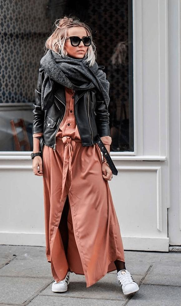 Как носить длинные платья7-1