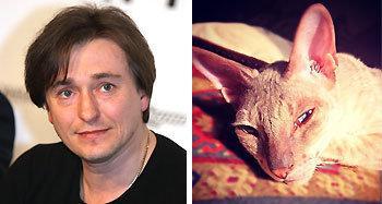 Сергей Безруков с кошкой