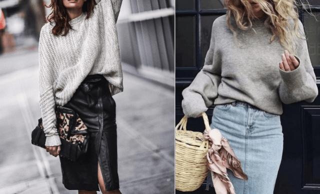 Мода на растянутые свитера1