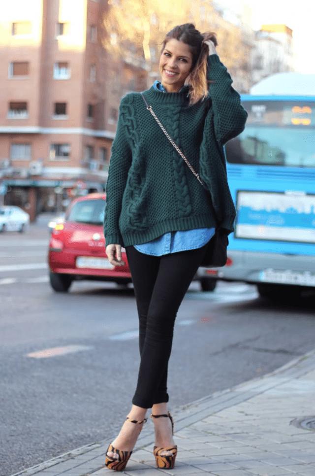 Мода на растянутые свитера2