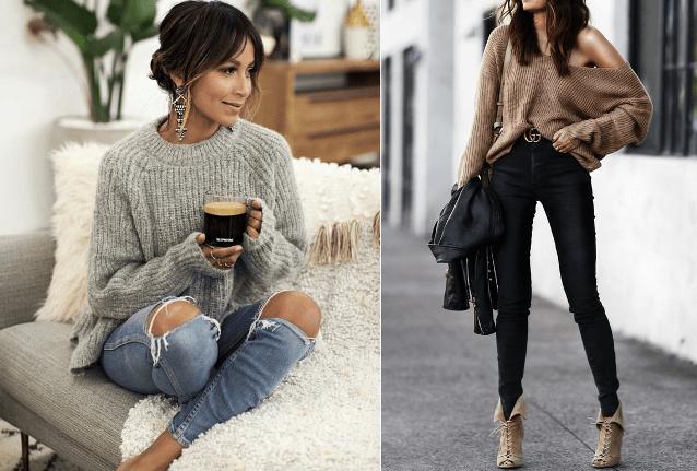 Мода на растянутые свитера3