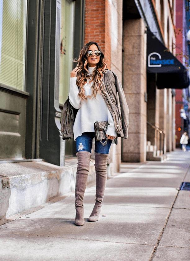 Мода на растянутые свитера4