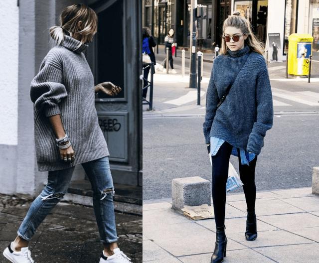 Мода на растянутые свитера5