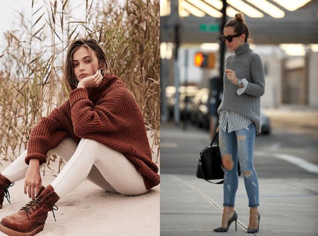 Мода на растянутые свитера6