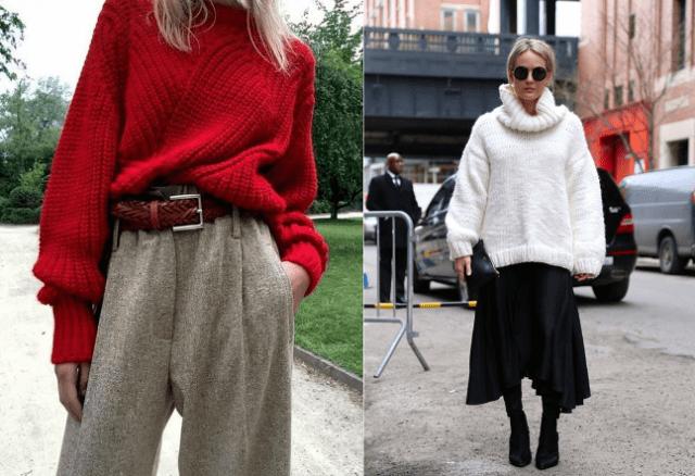 Мода на растянутые свитера7