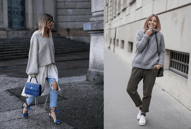 Мода на растянутые свитера9