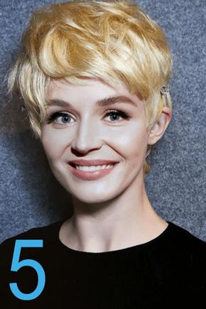 Полина Гагарина прически 4