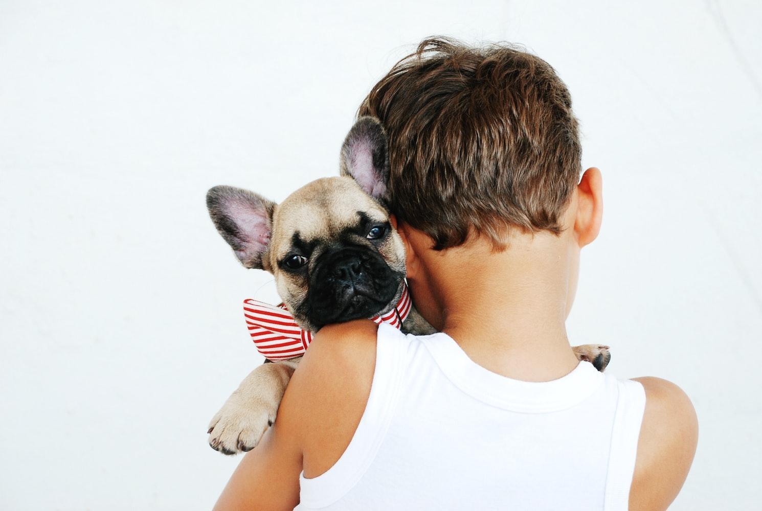 ребёнок и пёс