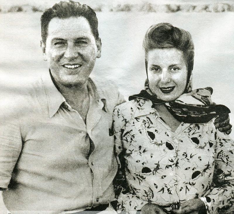 Ева Перон с мужем