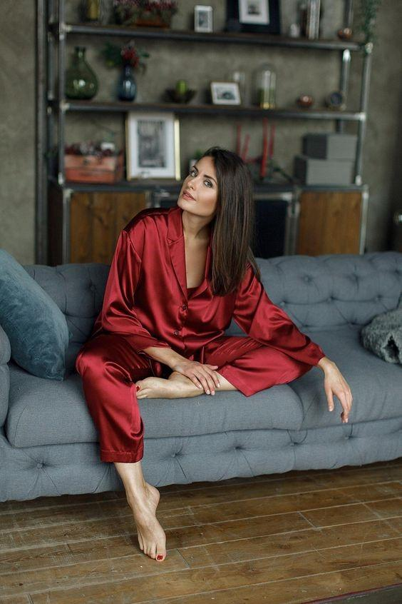шелковые пижамы-2