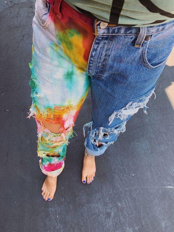 Красочный принт тай-дай снова в моде