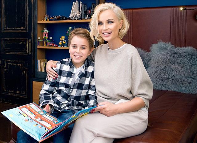 Полина Гагарина и сын