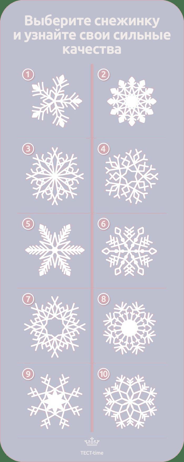 тест снежинка