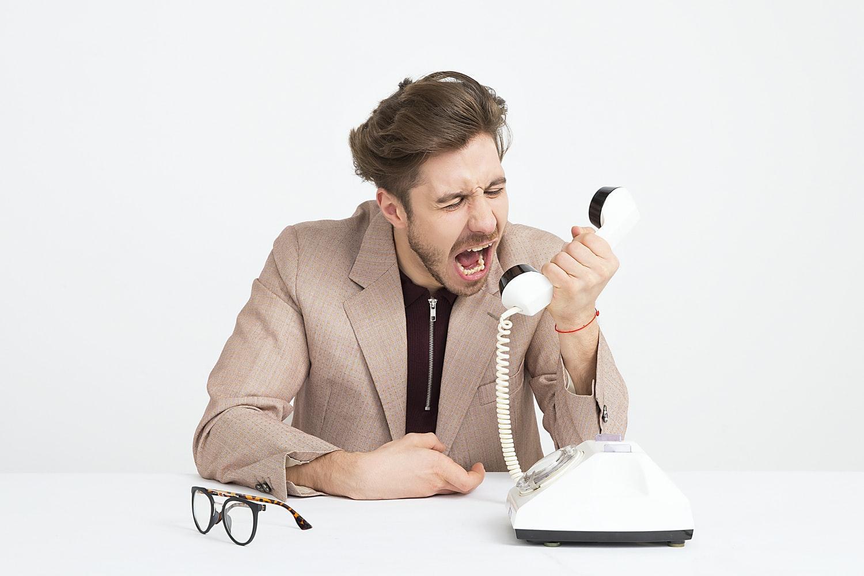 крик по телефону