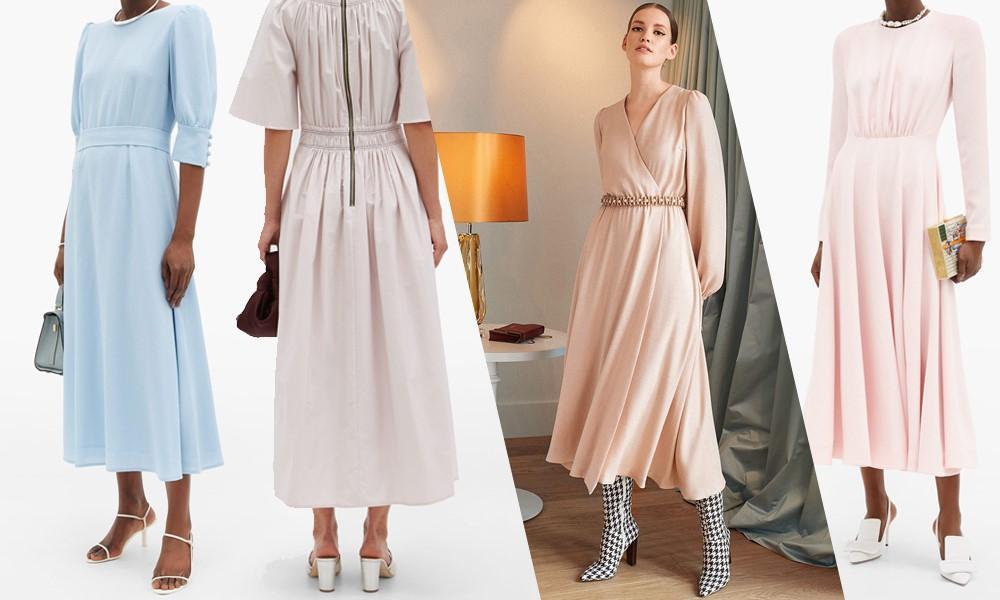 платье длиной миди