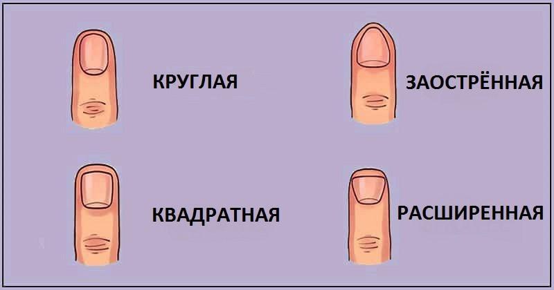 тест форма пальцев