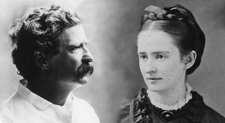 Марк Твен и Оливия Лэнгдон