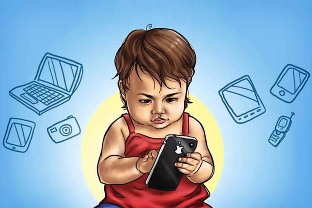 ребёнок с гаджетом