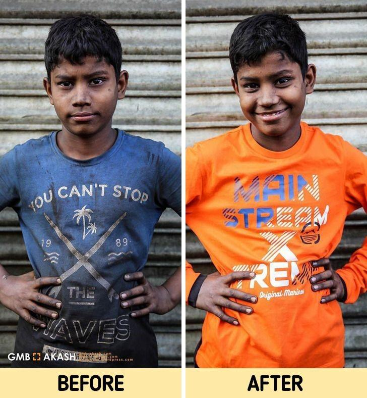 Фотограф из Бангладеш спонсирует образование детей, чтобы освободить их от изнурительного труда: 19 трогательных снимков ДО и ПОСЛЕ