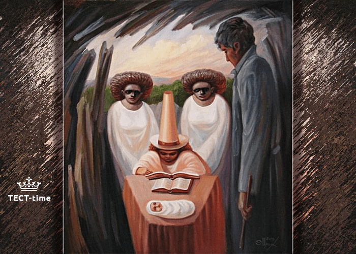 тест лицо