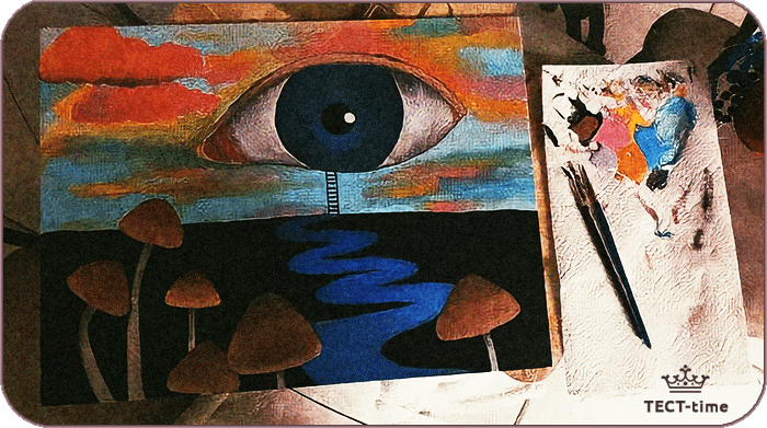 тест глаз