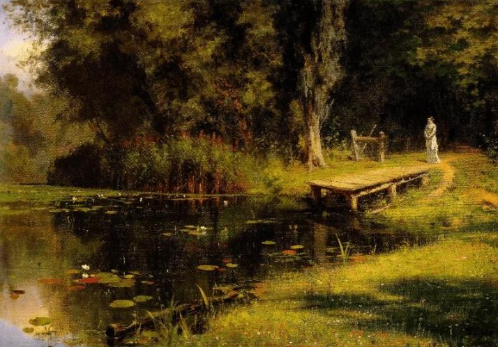 Василий Поленов «Заросший пруд», иллюстрация Википедия