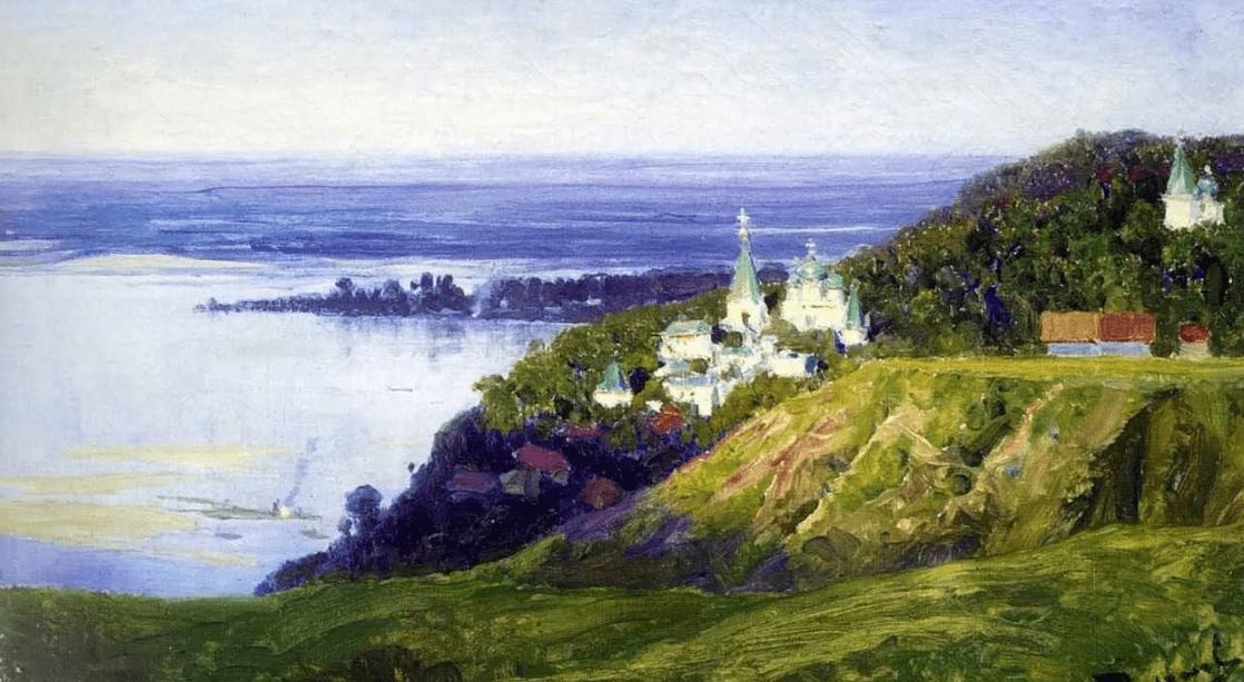 Василий Поленов «Монастырь над рекой», иллюстрация Википедия
