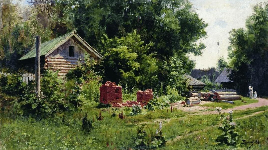 Василий Поленов «Русская деревня», иллюстрация Википедия