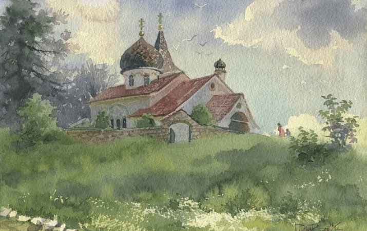 Храм Поленова в Бёхово, иллюстрация Википедия