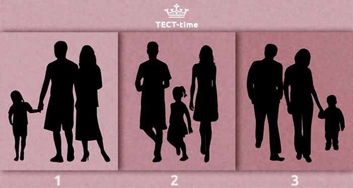 Психологический тест: на какой из трёх картинок изображена НЕ семья?