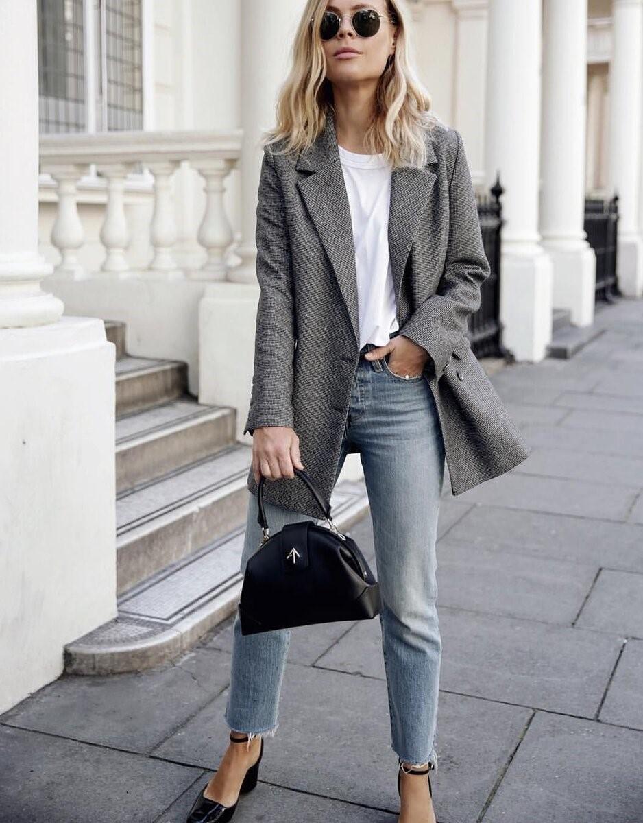 Жакет + джинсы