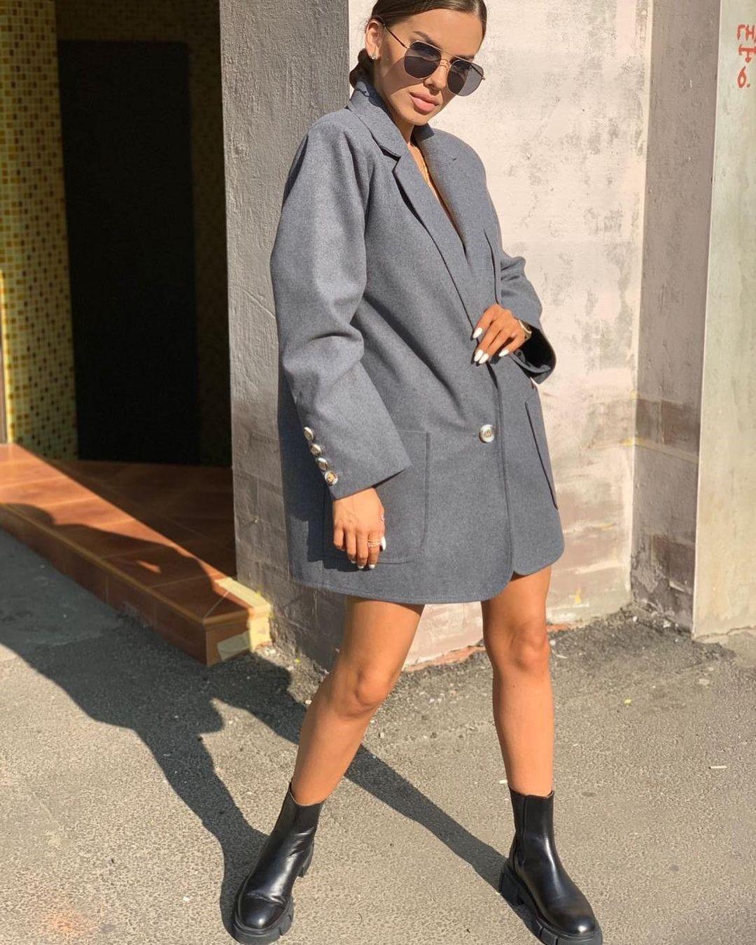 Пиджак и юбка мини