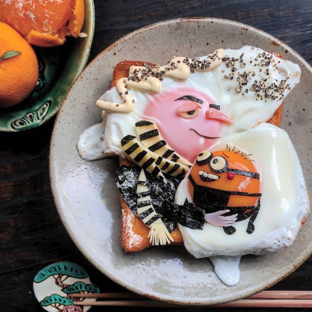 Мама из Японии придумывает для своих дочерей мультяшные блюда, которые приводят детей в восторг