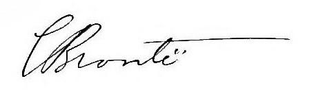 Подпись Шарлотты
