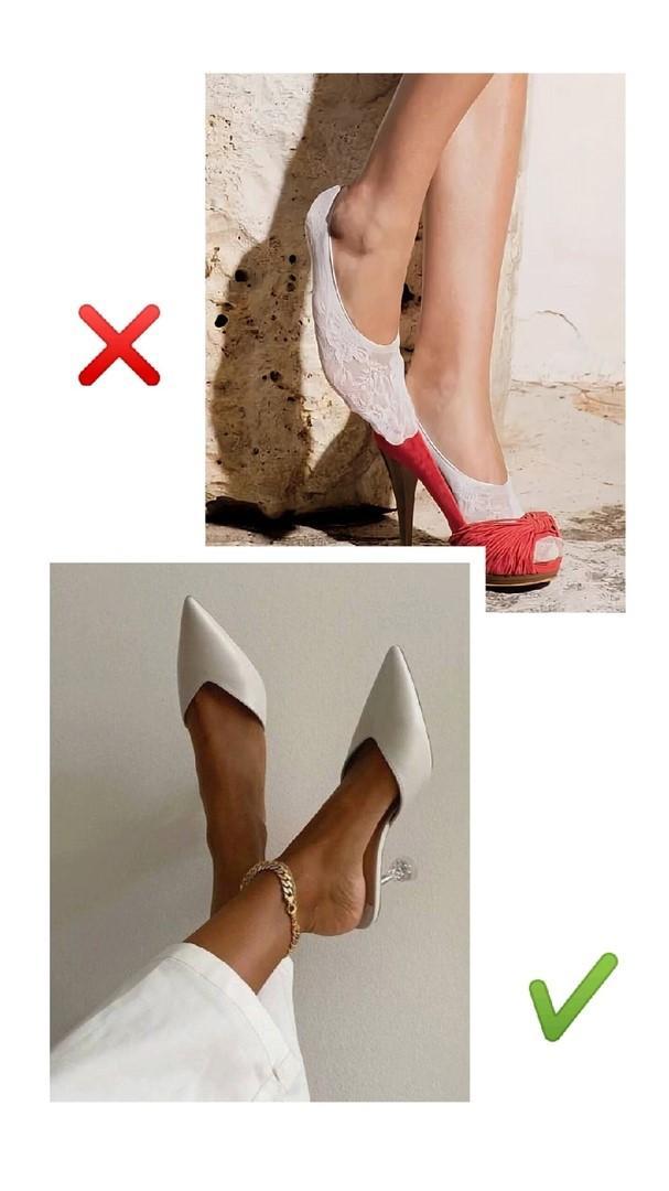 Подследники с открытой обувью