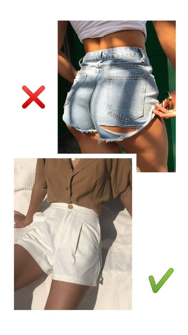 Слишком короткие шорты