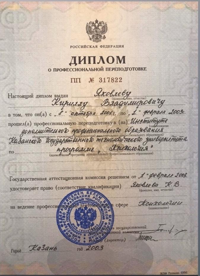 Кирилл Яковлев — практикующий психолог, эксперт журнала COLADY